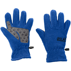 Jack Wolfskin Fleece Gloves Enfant, coastal blue